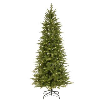 7.5ft Pre-lit Bedminster Spruce Slim Feel-Real Artificial Christmas Tree