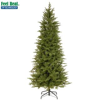 This slim PE/PVC mix tree is ideal if you are short of space & has realistic moulded branches. FREE Gift included when you buy online.