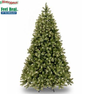 This 5.5ft pre-lit Bayberry Spruce is a great height for most rooms & has a Music Match system for a sparkling display.