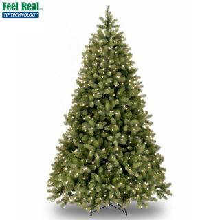 Our hinged pre-lit 9ft Bayberry is a PE/PVC mix for a natural look.