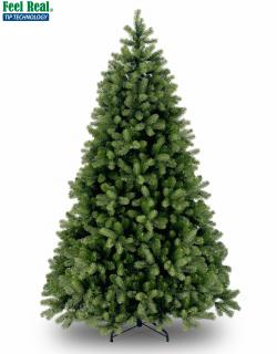 This Feel Real 5ft PE/PVC artificial Christmas tree has nice rounded branches. FREE Gift included when you buy online.