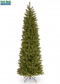 8ft Pre-lit Bayberry Spruce Pencil Feel-Real Artificial Christmas Tree