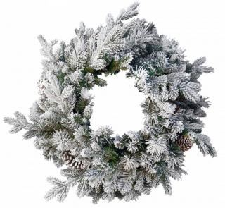 2ft Snowy Dorchester Pine Feel-Real Artificial Christmas Wreath