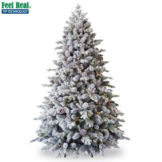 Our PE/PVC mix 6.5ft Pre-lit Snowy Dorchester Pine just needs decorations for a great display. FREE Gift included when you buy online.
