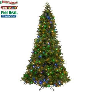 This slim 7ft tree has dual colour lights & comes with a BT Music Match system.