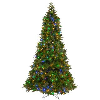 7ft Dual Light Empire Grande Fir Slim Feel-Real Artificial Christmas Tree Multi