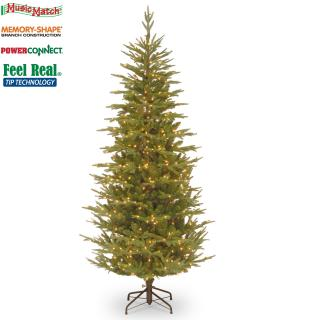 This slim Feel-Real 7ft pre-lit fir comes with Memory-Shape, PowerConnect & Music Match technology. FREE Gift included when you buy online.
