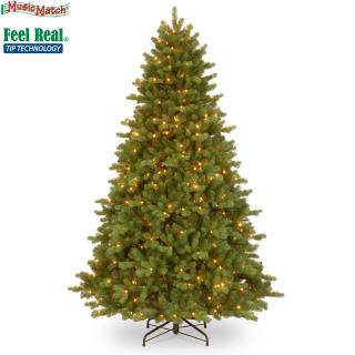 7.5ft Pre-lit Georgetown Fir Feel-Real Artificial Christmas Tree