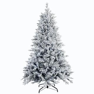 7.5ft Dual Light Snowy Hamilton Spruce Feel-Real Artificial Christmas Tree