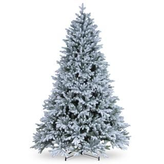 6.5ft Snowy Hamilton Spruce Feel-Real Artificial Christmas Tree
