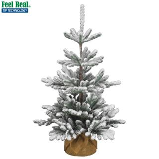 3ft Snowy Imperial Blue Spruce Burlap Feel-Real Artificial Christmas Tree