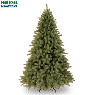 This 6ft Feel-Real Christmas tree has the look of a typical spruce.