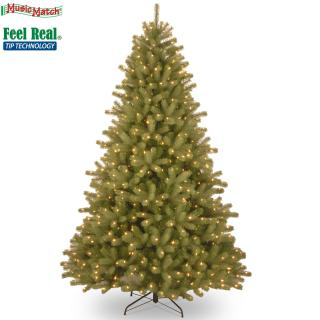 This pre-lit 6.5ft spruce is a PE/PVC mix tree with a Bluetooth Music Match system. FREE Gift included when you buy online.