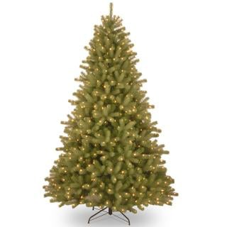 7.5ft Pre-lit Lakewood Spruce Feel-Real Artificial Christmas Tree