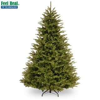 8ft Pre-lit Ridgedale Infinity Fir 100% Feel-Real Artificial Christmas Tree