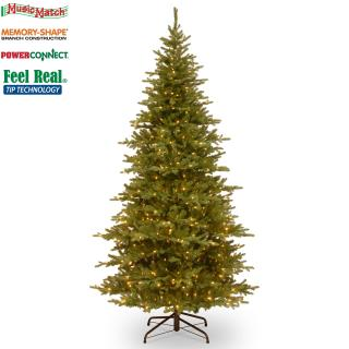 This slim 7ft pre-lit fir with Music Match is easy to set up with its Memory-Shape & PowerConnect technology.