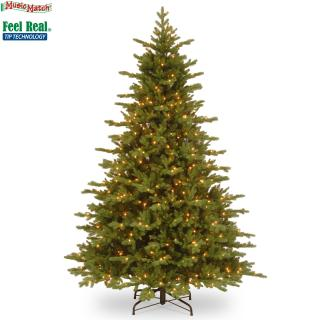 Create a stir at Christmas with this 7.5ft mixed PE/PVC pre-lit fir tree with its lights & Music Match system. FREE Gift included when you buy online.