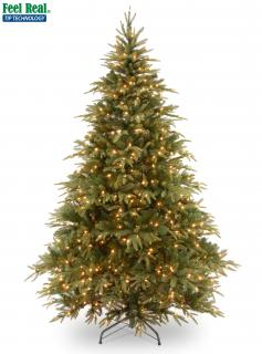 6ft Pre-lit Weeping Spruce Feel-Real Artificial Christmas Tree