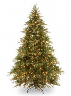 700 warm white LED lights & pre-lit tree topper will make this 8ft Weeping Spruce an impressive sight.