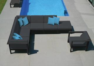 Westminster Manhattan Modular Corner Set Charcoal