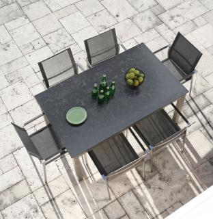 Westminster Seattle 6 Seat Rectangular Set in Charcoal