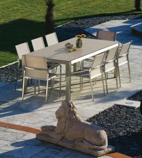 Westminster Seattle 8 Seat Rectangular Set in Stone
