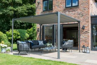 Norfolk Leisure Pandora Leaf Pergola 3m x 3.6m Closed