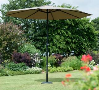 Norfolk Leisure 2.2m Round Penny Parasol in Taupe