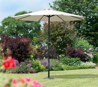 Norfolk Leisure 2.7m Round Penny Parasol in Mouse Grey