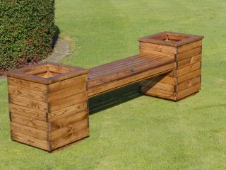 Redwood Planter Seat