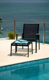 The contemporary Aura Club Chair is ideal for most gardens.