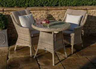 The fabulous Ascot 80cm Round Bistro Set is ideal for a smaller garden or patio.