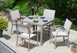 LifestyleGarden Morella 4 Seat Square Dining Set