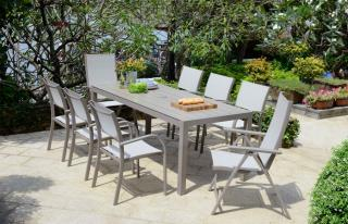 LifestyleGarden Morella 8 Mixed Seat Rectangular Dining Set