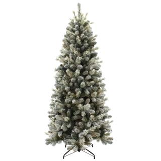 7.5ft Snowy Cone Pine Slim Artificial Christmas Tree