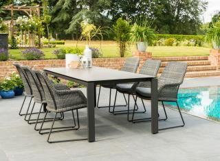 4 Seasons Outdoor Samoa 6 Seat Rectangular Goa Dining Set