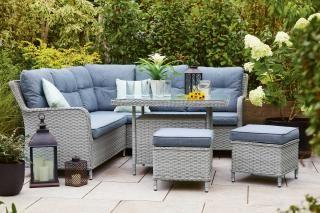The fantastic Supremo Genoa Mini Modular Sofa Set is ideal for smaller gardens.