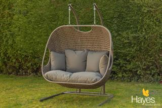 This stunning Double Cocoon is a perfect addition to the garden allowing you to relax in comfort. Comes with cushions & a FREE cover.