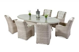 Supremo Massimo 200x120cm Oval 6 Seat Dining Set