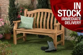 4ft Solid Teak Tenbury Bench - FSC Hardwood Bench