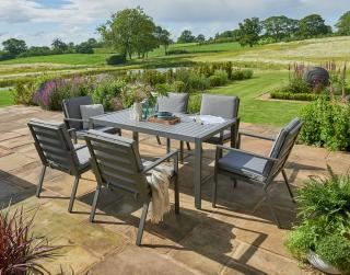 Norfolk Leisure Titchwell 6 Seat Dining Set in Grey