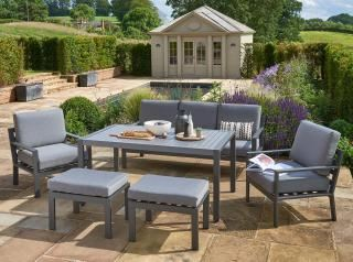 Norfolk Leisure Titchwell Lounge Set in Grey