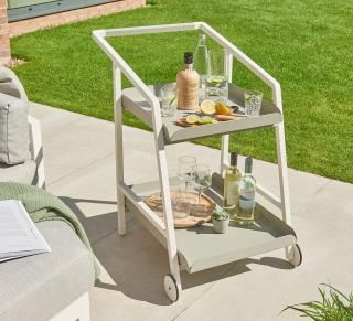 Norfolk Leisure Titchwell Drinks Trolley in White