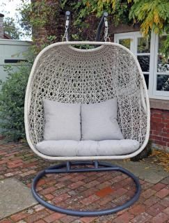 Supremo Turin Double Cocoon Egg Chair with Cushions