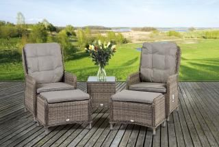 Supremo Tuscany Reclining Lounge Set