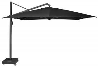 Alexander Rose Code UH35LARGECH. A large square aluminium parasol available in charcoal only.