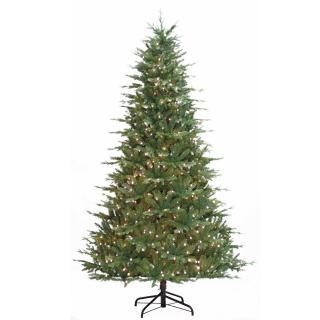 7ft Pre-lit Ulverston Green Spruce Life Like Artificial Christmas Tree