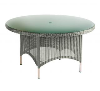 Westminster Code PVLT153 + glass. A round table with a glass top which will seat 6.
