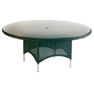 Westminster Code PVLT181 + glass. Stylish glass topped garden table which will seat 8.