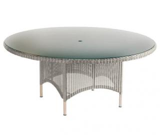 Westminster Code PVLT183 + glass. A round table with a glass top which will seat 8.